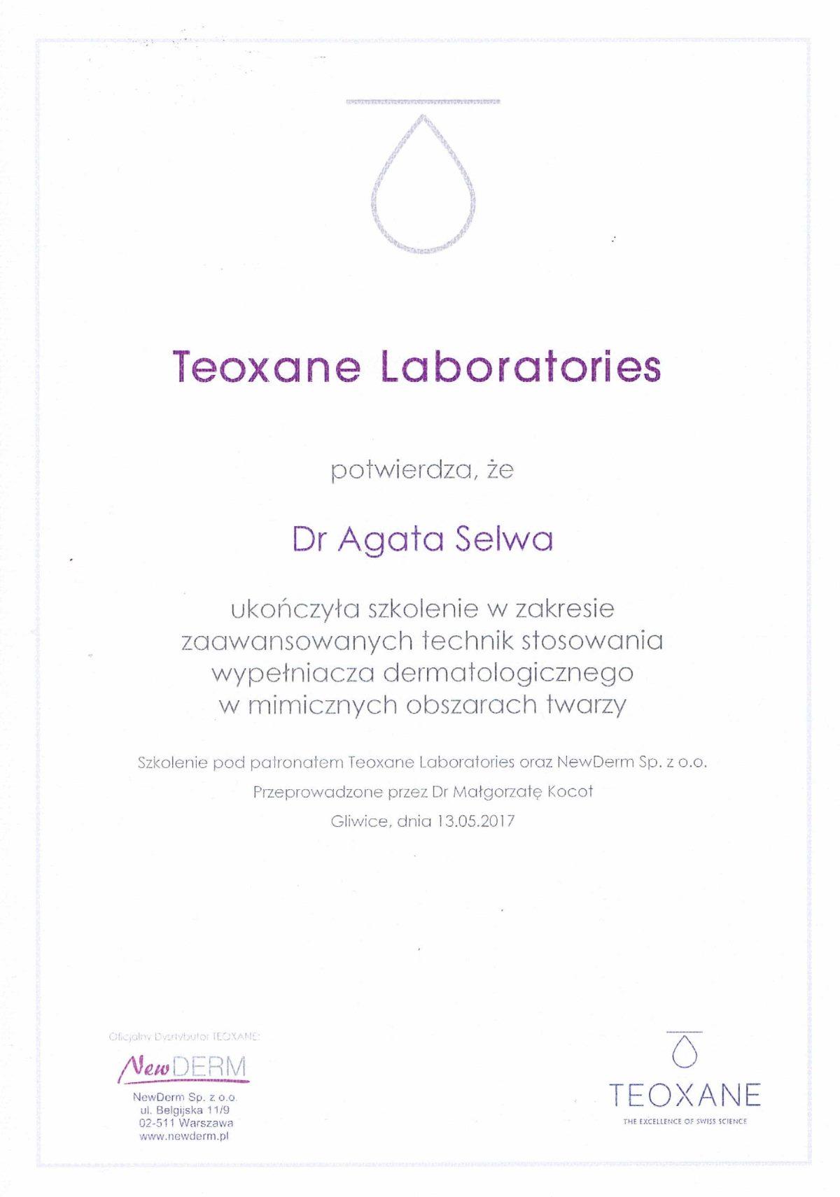 szkolenie wypełniacz dermatologiczny dr agata selwa