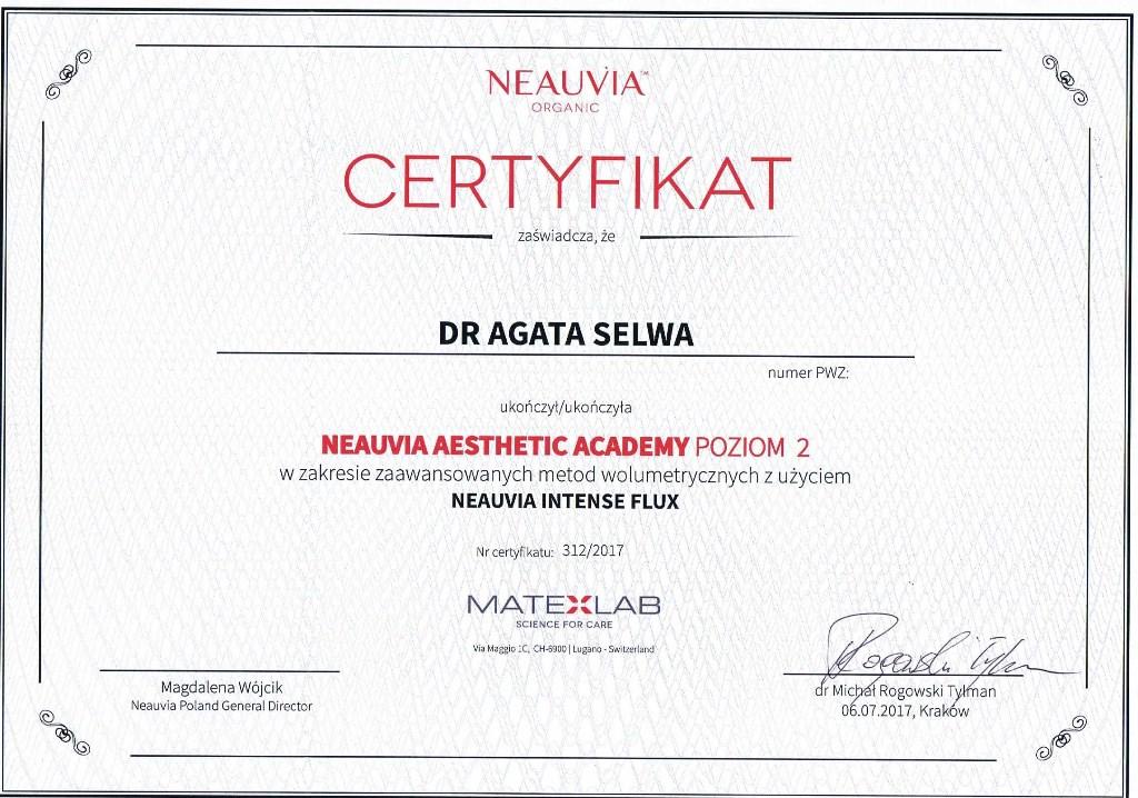 certyfikat mezoterapia neuavia dr agata selwa