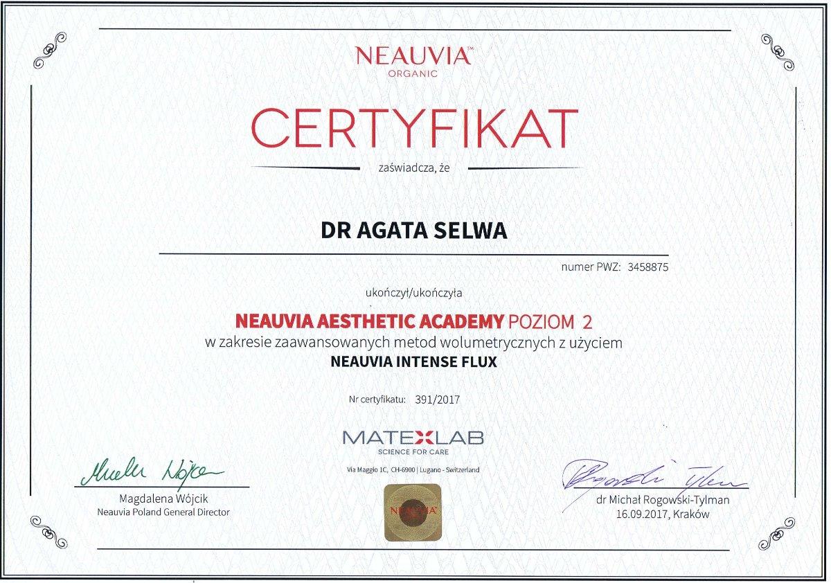Neauvia szkolenie wypełnianie zmarszczek dr agata selwa