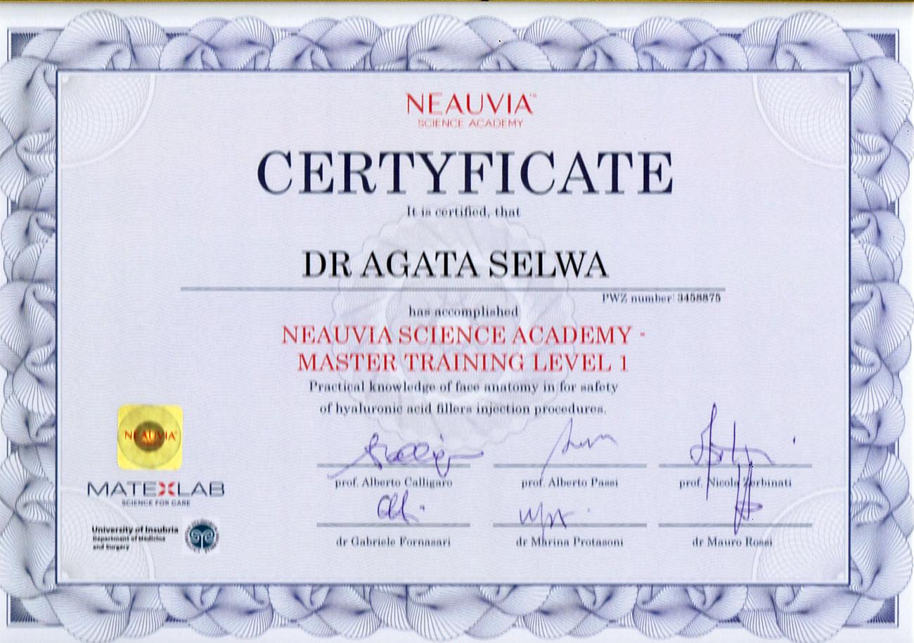 certyfikat kwas hialuronowy - O MNIE
